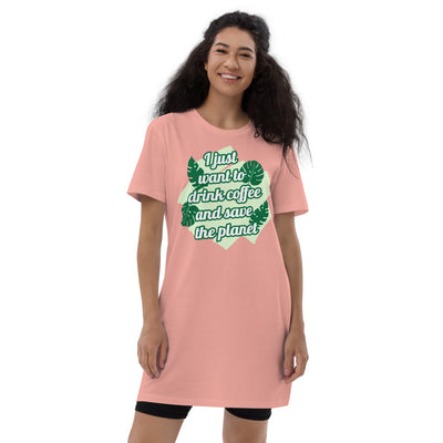 Robe t-shirt en coton bio - Save The Planet
