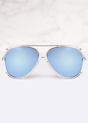 Aviator Mirrored Crystal Sunnies