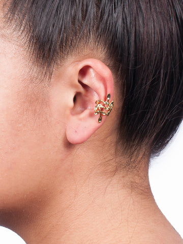 Gold Floral Ear cuff - Gold Soul