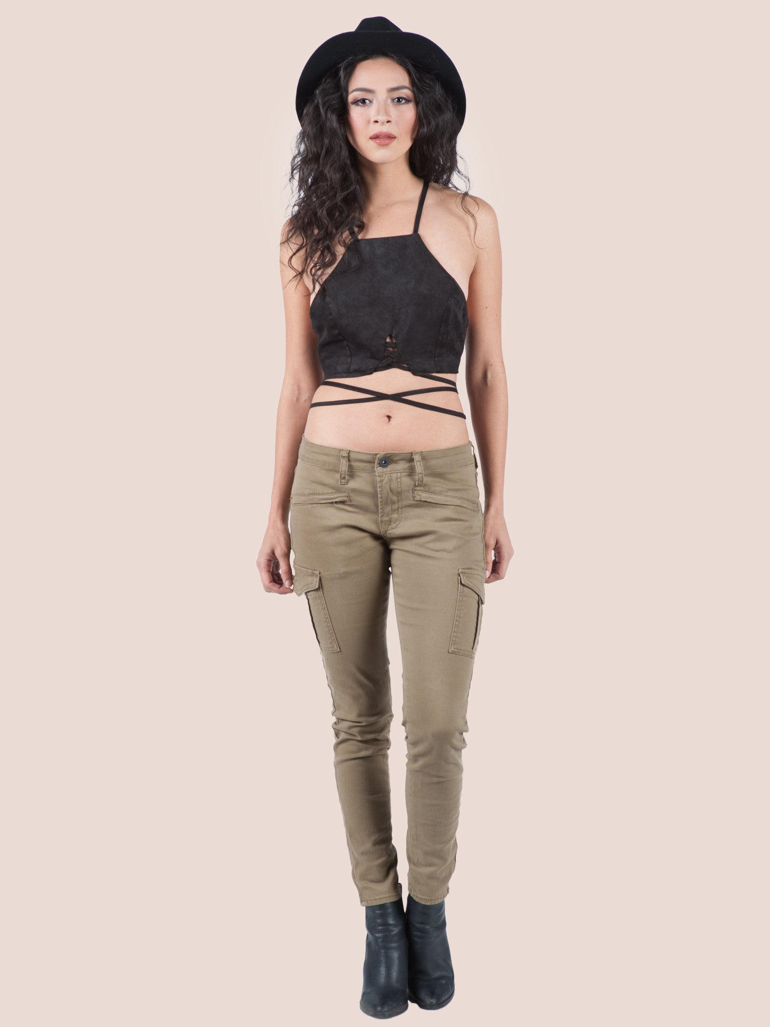 Cargo Ankle Pants - Gold Soul - 1