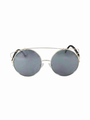 Oversized Round Lens Universal Sunnies - Gold Soul - 1