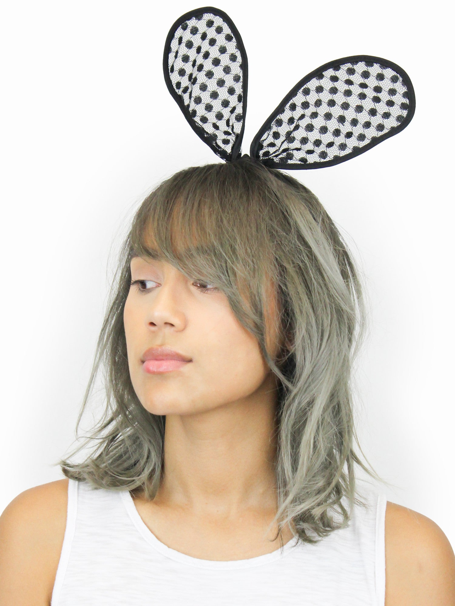 Black Bunny Ear Headband - Gold Soul