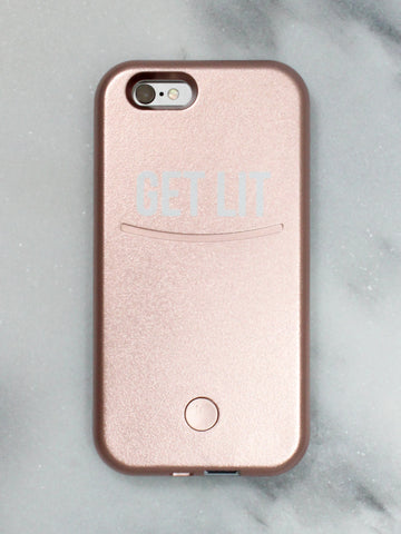 Get Lit Selfie Light iPhone Case - Gold Soul - 1