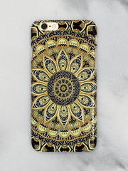 Sunny Floral Print iPhone Case - Gold Soul
