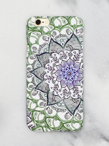 Mandala Floral iPhone Case - Gold Soul