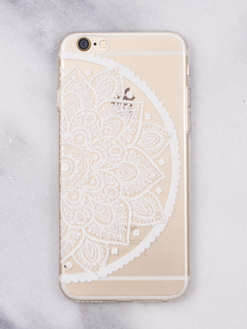 Half Floral iPhone   Case - Gold Soul