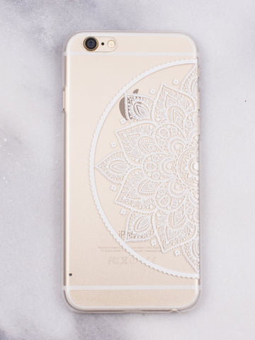 Half Mandala iPhone Case - Gold Soul