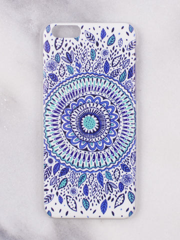 Blue Floral iphone  case - Gold Soul
