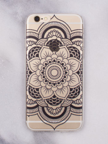 Rose Mandala iPhone Case - Gold Soul