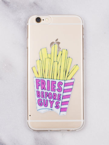 Fries Before Guys iPhone Case - Gold Soul