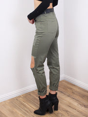 Distressed Olive Jeans - Gold Soul - 3
