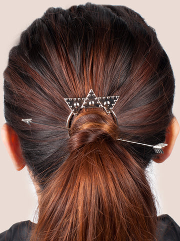 Silver Arrow Hairclip - Gold Soul - 1