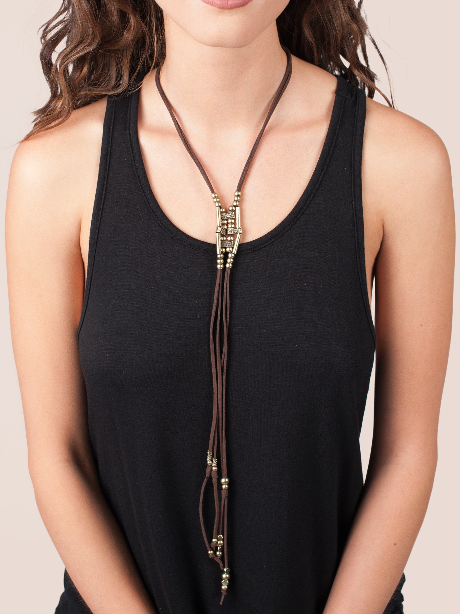 Sala Dangle Bead Necklace - Gold Soul