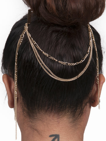 Three layer Hair Chain - Gold Soul