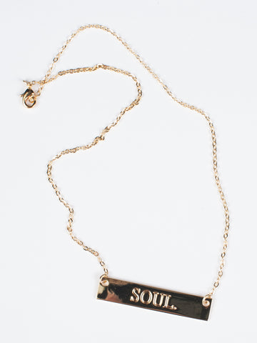 SOUL. Bar Necklace - Gold Soul - 2
