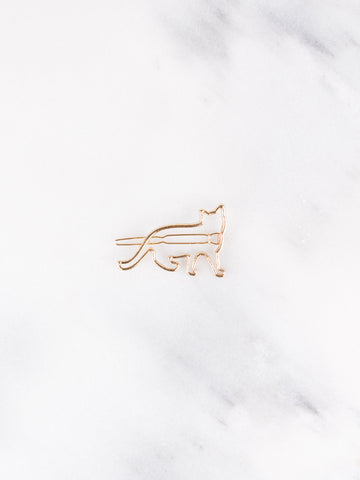 Kitty Hair Clip - Gold Soul
