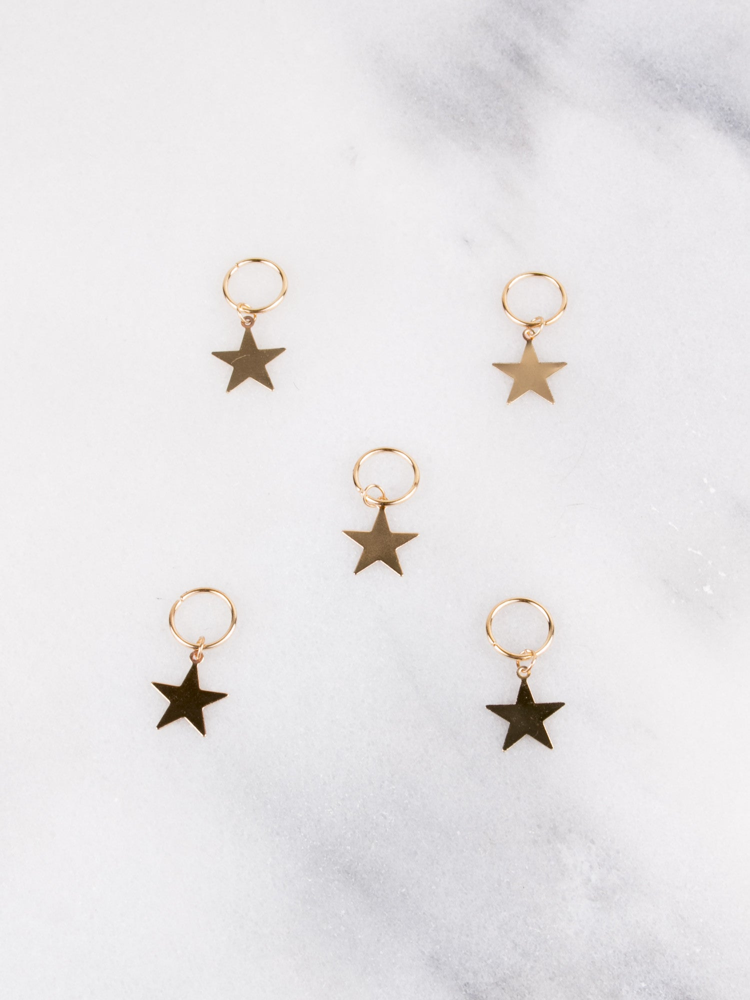 Star Hair Clips - Gold Soul