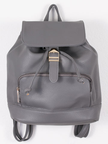 Grey Buckle Backpack - Gold Soul