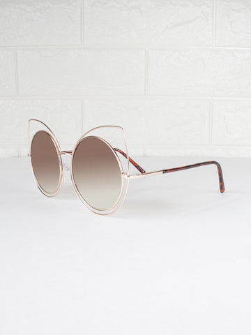 Cat Eye Round Lens Lunar Sunnies