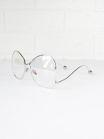 Round Clear Lens Libra Glasses