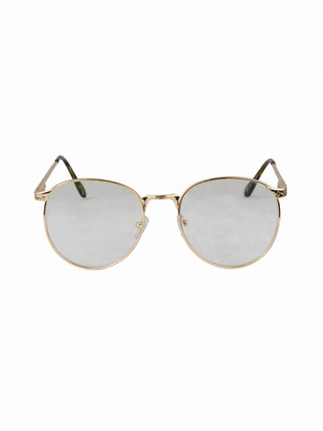 Round Clear Lens Rita Glasses - Gold Soul - 1