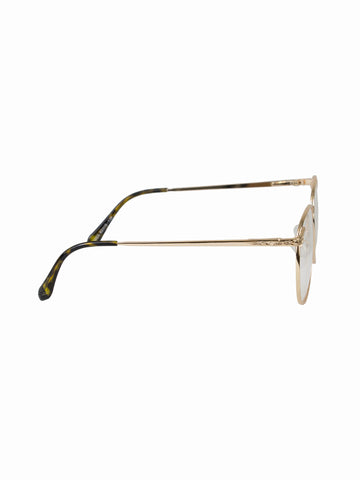 Round Clear Lens Rita Glasses - Gold Soul - 2
