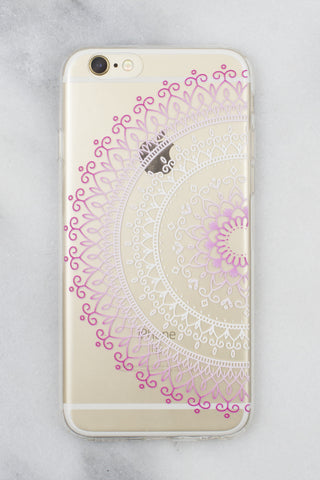 Pink Mandala iPhone Case - Gold Soul