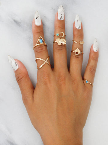 Wild Spirit Ring Set - Gold Soul