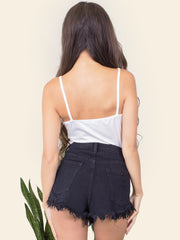 Black Highwaisted Shorts - Gold Soul - 6