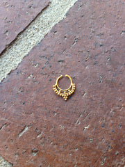 Tribal Faux Septum Ring - Gold Soul - 2