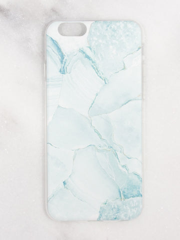 Mint Marble iPhone Case - Gold Soul