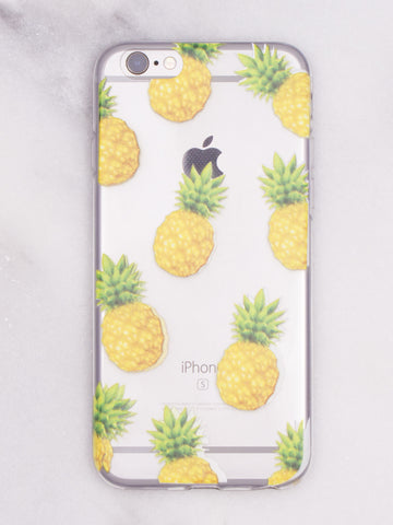 Fruity Pineapple iPhone Case - Gold Soul