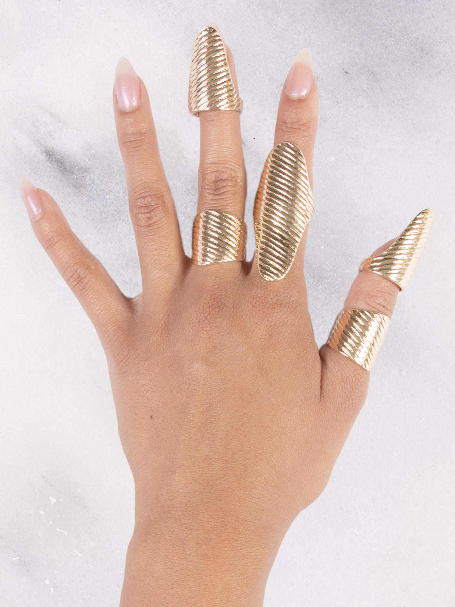 Gold Plated Ring Set - Gold Soul - 1