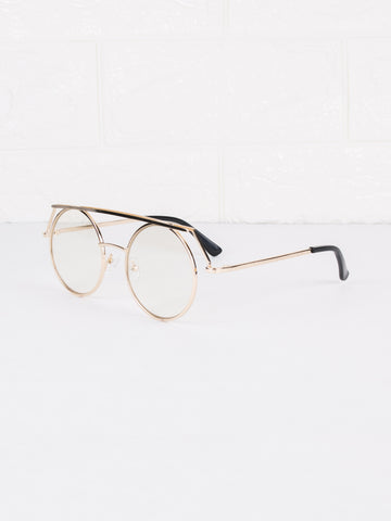 Clear Lens Linq Glasses - Gold Soul - 2