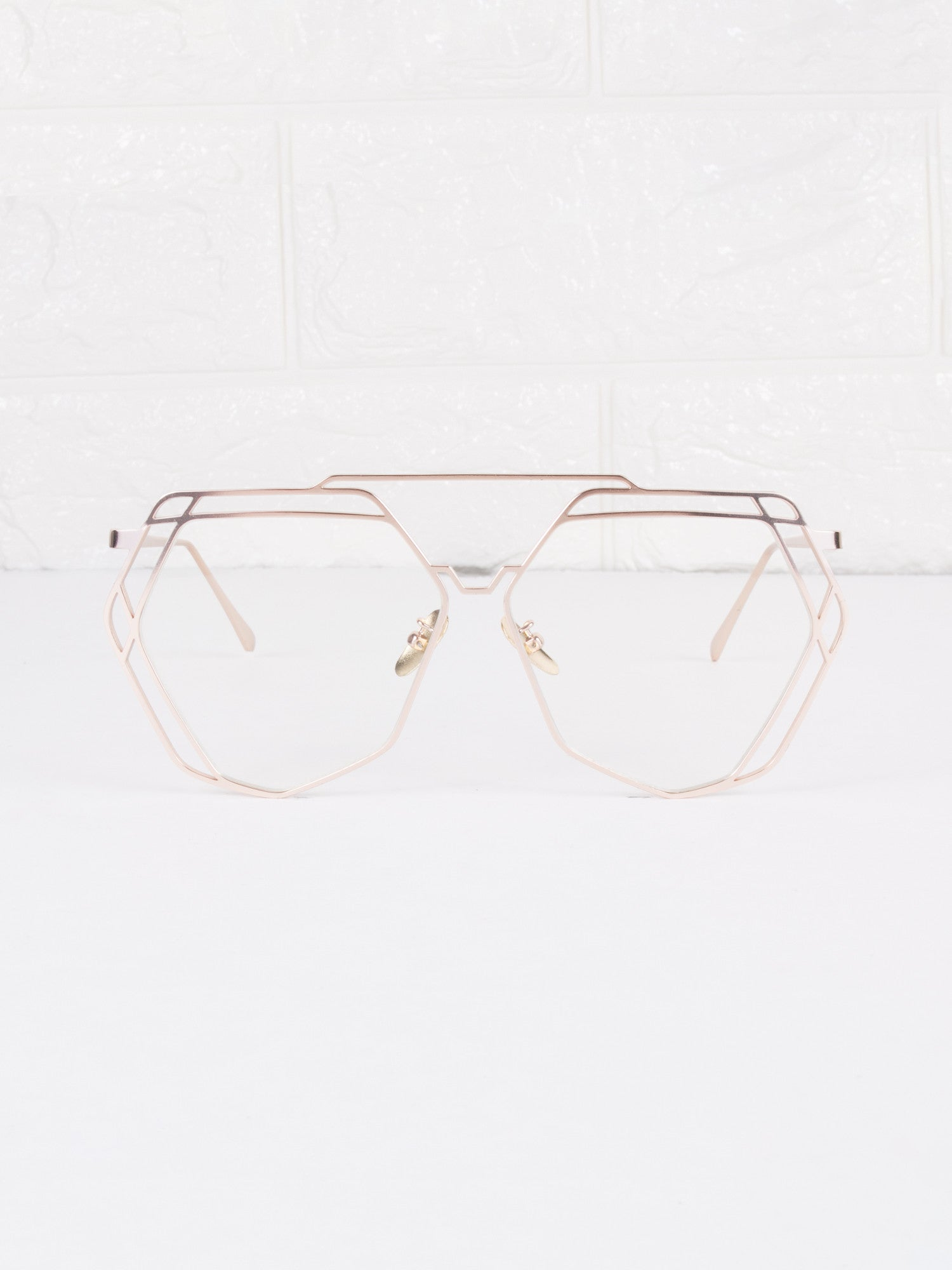 Clear Lens Velvetine Glasses - Gold Soul - 1