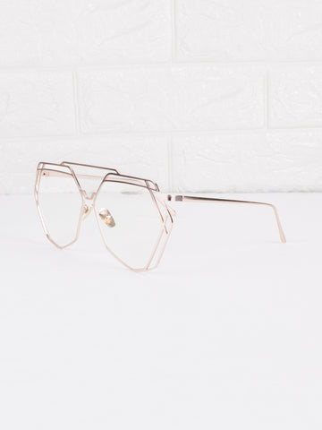 Clear Lens Velvetine Glasses - Gold Soul - 2