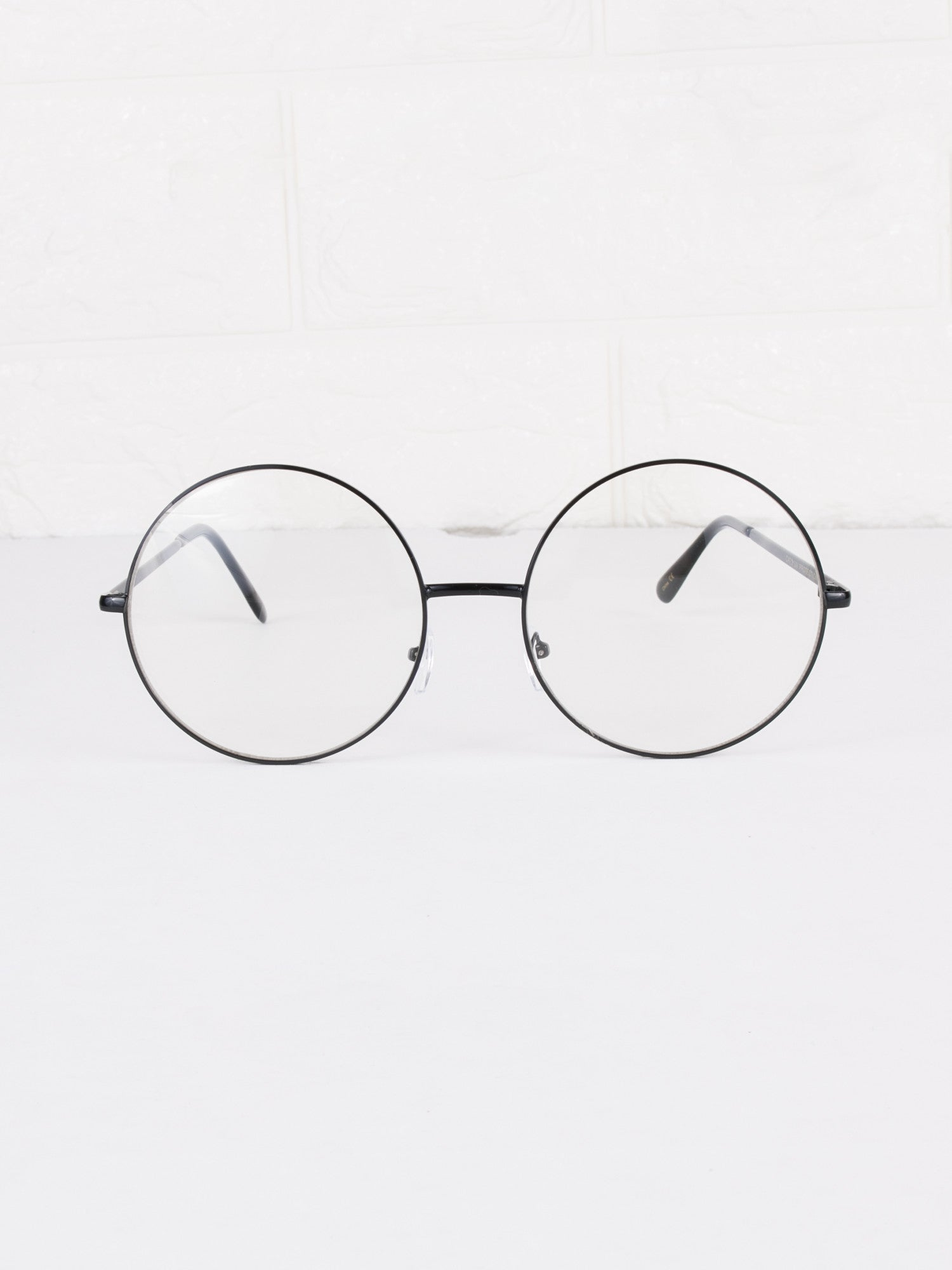 Round Clear Lens Circle Spec Glasses - Gold Soul - 1