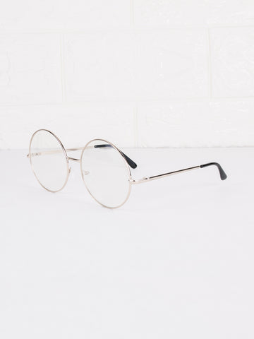 Round Clear Lens Circle Spec Glasses - Gold Soul - 2