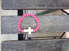 Pink Against Cancer Cross Bracelet - Gold Soul - 2