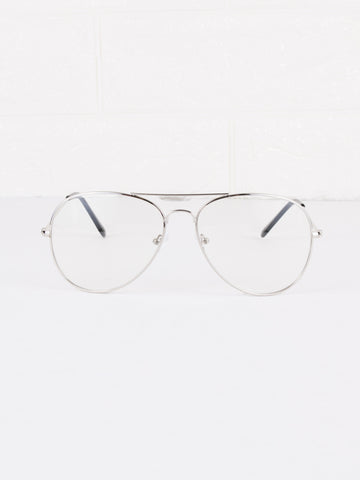 Aviator Clear Lens Spec Glasses - Gold Soul - 1