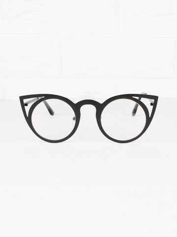 Cat Eye Clear Lens Purrfect Glasses - Gold Soul - 1