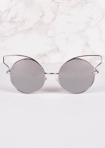 Cat Eye Circle Lens Butterly Sunnies