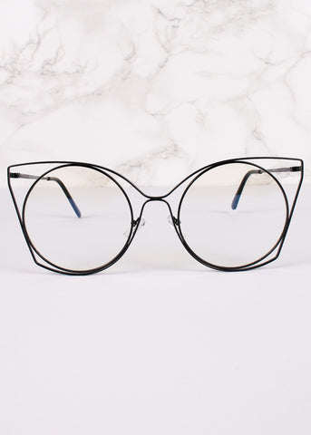 Cat Eye Trinity Glasses
