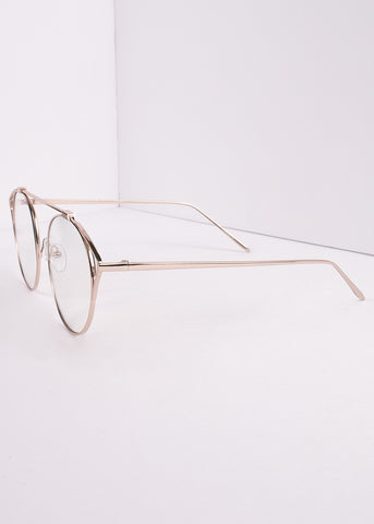 Tronika Aviator Clear Lens Glasses