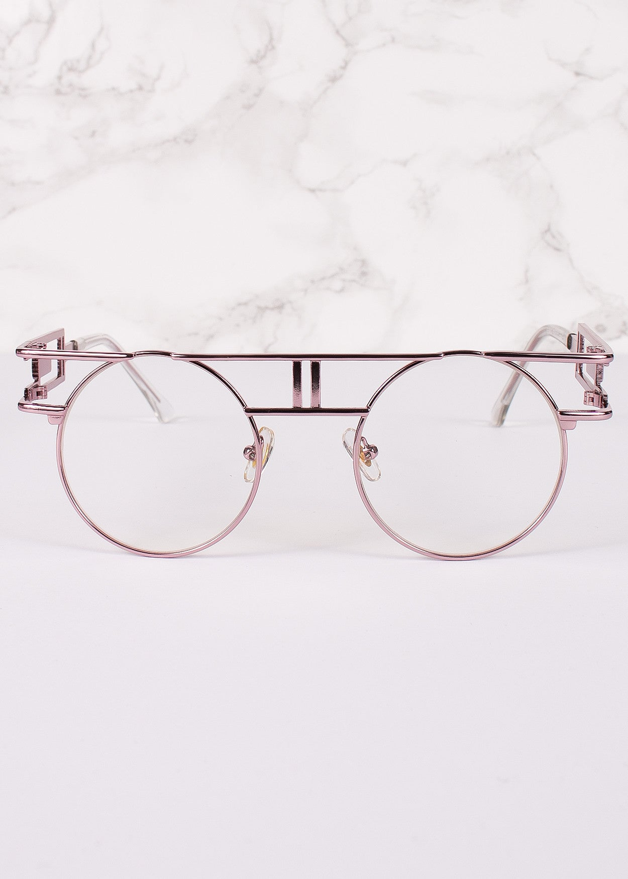 Round Circle Clear Lens Vanilla Glasses