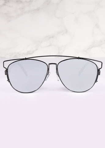 Aviator Mirrored Flat Lens Planet X Sunnies