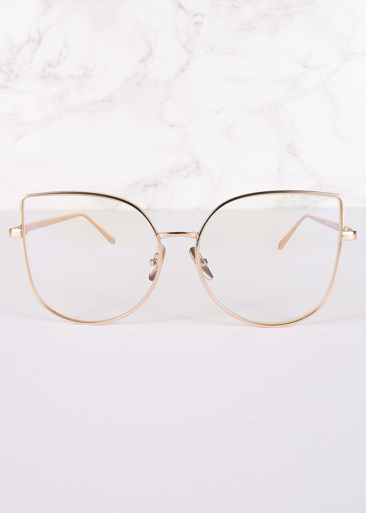 Cat Eye Clear Lens Oh Shadow Glasses