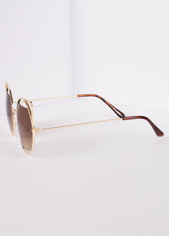 Cat Eye Round Retro Lens Salem Sunnies