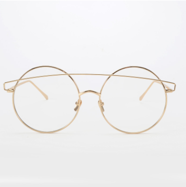 Round Clear Lens Supa Nova Glasses - Gold Soul - 1