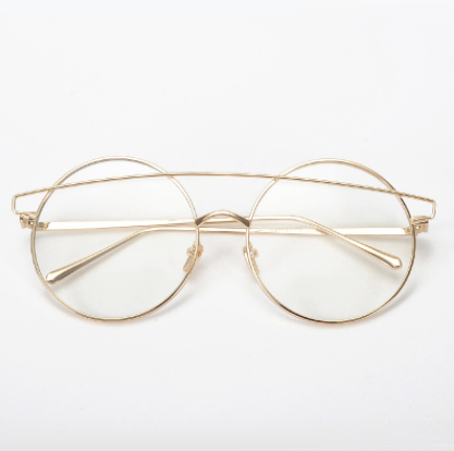 Round Clear Lens Supa Nova Glasses - Gold Soul - 2